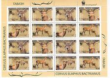CERVO - BACTRIAN DEER TAJIKISTAN & WWF 2009 sheetlet A