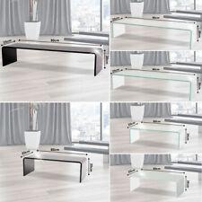 Luxus Design TV Fernseh Receiver Schrank Aufsatz Glas Tisch Platte Podest Möbel
