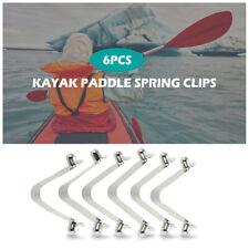 6pcs Kayak Paddle Spring Clips Tent Pole Clips Push Button Locking 2019 S4D3