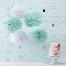 HELLO WORLD BABY SHOWER Tissue Pom Poms Decoration Party Gender Reveal Tissue