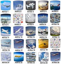 Niños Pantallas de Lámpara Para Combinar Línea Aérea Avión edredones Planes