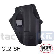 Genuine Fobus Glock 17/29 Safety Retention Holster Paddle and Belt GL-2 SH