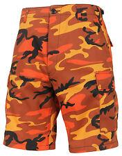 Shorts Camo Savage Orange Cargo BDU Military Style Camouflage Mens Rothco 65004