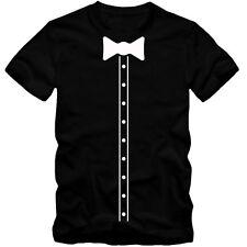 Kinder unisex T-Shirt Elegant Suit Hemd Bow Tie Fliege Party Tee S-3XL NEU