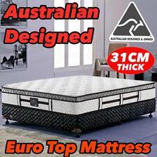 NEW Mattress Queen Double King Single Euro Top 5 Zone Pocket Spring Foam 31CM