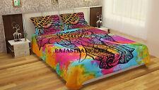 Tye-Dye Elephant Mandala Indian Queen Duvet Doona Cover Quilt Cover Bedding Set