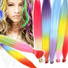 Bunte Strähnen I Tip Keratin Bonding Color Microring Extensions Haarverlängerung
