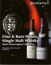 BONHAMS Wine Whisky Cognac Collection Bowmore Macallan Springbank Hennesy Catalo