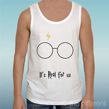 Canotta Uomo Harry Potter It'S Real For Us Occhiali Idea Regalo