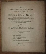 1796 Festschrift Medizin und Pharmazie in Nürnberg Bauer