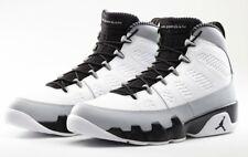 "Nike Air Jordan 9 Retro ""Barons"" White Black Grey 302370-106 MEN SIZE US 12"
