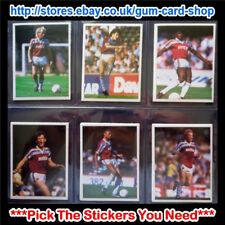 ☆ DAILY MIRROR 1986-87 bastone con calcio (Aston Villa) * si prega di selezionare gli adesivi *