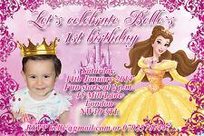 10 Personalised Girls Princess Ballerina Birthday Thank you PHOTO Cards N119