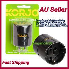 Korjo Worldwide Reverse Travel Adaptor-Europe/US/JPN/Canada/Asia to Australia NZ