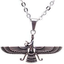 Small Silver Pt Iranian Persian Farvahar Faravahar Necklace Chain Iran Pahlavi