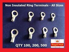 Non-Insulated Ring Crimp Terminals 3.2, 3.7, 4.3,5.3, 6.4,8.4mm