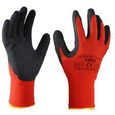 12 Paar Arbeitshandschuhe Handschuhe Garten Werkstatt Kat I rot-schwarz #1003