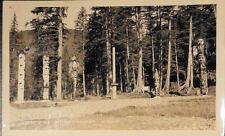 Totem Poles, Ketchikan Alaska, Real Photo Postcard, Schallerer Photographer