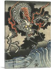 De Ide Tama Rivier Provincie Yamashiro Canvas Art Print by Utagawa Kuniyoshi