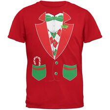 Christmas Tuxedo Costume Red Adult T-Shirt