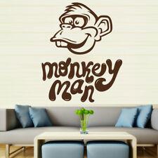 Sticker Décoration Murale/Voiture Humour Singe Monkey Man (15x12 cm à 35x28 cm)