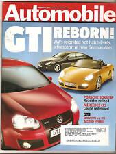 Automobile Mag Dec 2004 - VW GTI - Mercedes CLS