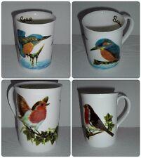 BN Personalised Fine Bone China Boxed Robin or Kingfisher Mug, Bird Gift Mug