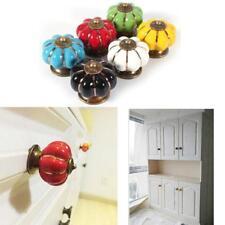 Pumpkin Kitchen Cabinet Knobs Dresser Drawer Ceramic Porcelain Pulls Handle J