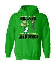 Irlanda Rugby Con Capucha seis naciones 6 suerte de la bandera irlandesa Para Hombre señoras con capucha T54