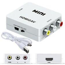1080 p Mini HDMI vers VGA à RCA AV Composite Adaptateur Convertisseur avec
