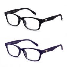 ce5b6ad595 Rubber Matte Black or Blue Clear Lens Glasses Men Women Classic Non  Prescription