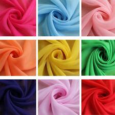 CHIFFON Deko- u. Kleider-Stoff Weich fallend für Kleid Rock viele Farben BC235