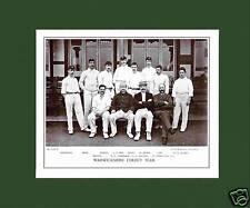 MOUNTED CRICKET TEAM PRINT - WARWICKSHIRE - 1895