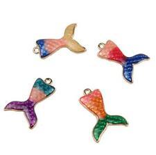 5pcs Mermaid tail pendant earring necklace Jewelry Accessorie pendant  DIY