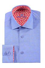 BERTIGO Brotelo Diamond Dress Shirt in Blue  BRAND NEW WITH TAGS RETAIL 159 USD