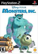 Vintage Monsters Inc. Sony PlayStation 2, 2002 Movie Disney Pixar Game