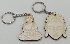 Llavero Buda, capas de madera acabado satinado