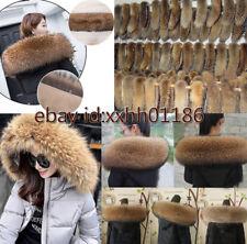 Genuine 100% real Farm Raccoon Fur Collar scarf trim for Down Jacket Hood Scarf