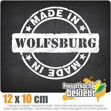 Made in Wolfsburg csf0627 12 x 10 cm JDM  Sticker Aufkleber