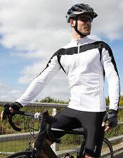 UOMO JERSEY MANICA LUNGA TRASPIRANTE SPIRO bici da corsa SHIRT COOL-DRY S - XXL