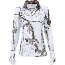 Women S*M*L*XL*2XL* REALTREE APC Snow 1/4Zip White Camo Performance Layer Shirt