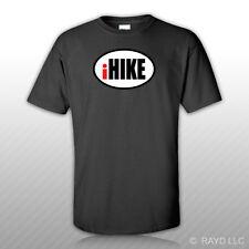 iHike Oval T-Shirt Tee Shirt Free Sticker euro hike hiking backpack outdoors