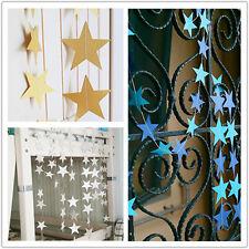 4M Papier Girlande Sterne String Banner Hochzeit Zuhause Party hängende Dek Q5I0