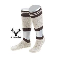 Trachtenstrümpfe Herren Loferl 2teilig beige braun Oktoberfeststrümpfe Socken