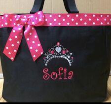 Personalized Baby Diaper Bag Tote Monogrammed Princess Crown