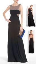 $398 BCBG Maxazria Marianna Black Illusion Mesh-Insert Dress Gown 10