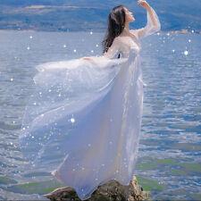Dreamlike Elegant Sweet Lolita Mori Girl White Goddess Princess Fairy Slim Dress