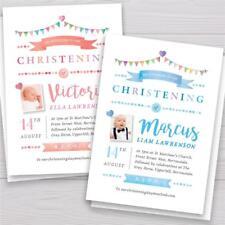 Personalised Christening invitations invites Boy or Girl