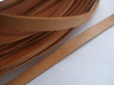 10mm Flat Genuine Leather Cord 10x2mm DIY Craft Jewelry 1Yard , 3Yards , 5Yards