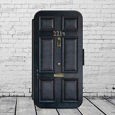 Sherlock Holmes 221b Baker STR Flip Portafoglio Telefono Custodia Cover tutti iPhone/Samsung